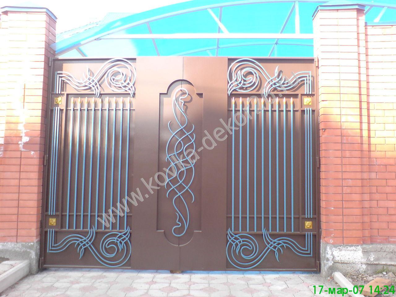 Декор ворот